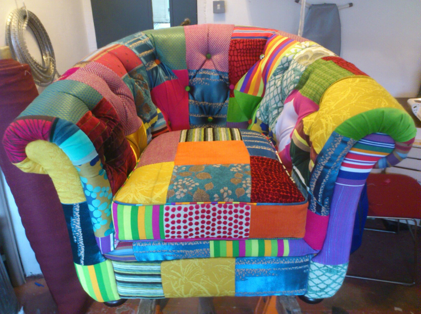 These Two Patchwork Chairs Were A Collaboration With Sibel Of Leftover Designs Who Designed And Made This Amazing Fabric