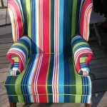 Parker Knoll with deckchair stripes