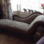 zebra chaise at home
